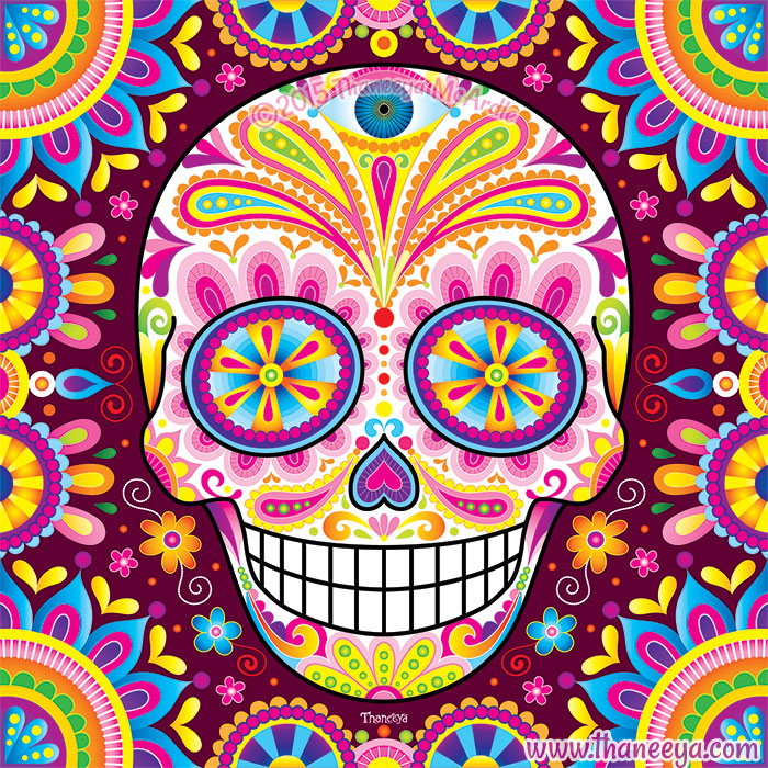 Colorful Sugar Skull Spright by Thaneeya
