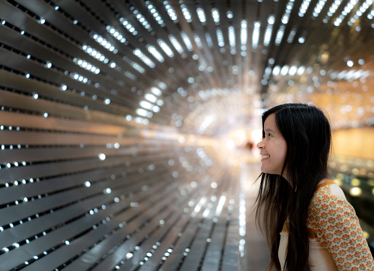 Admiring Leo Villareal's  Multiverse  light sculpture installation at the National Gallery of Art, DC