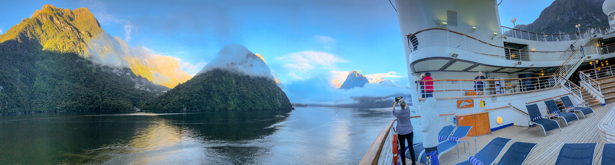 Milford Sound viewed from the Golden Princess, Fiordland National Park in New Zealand