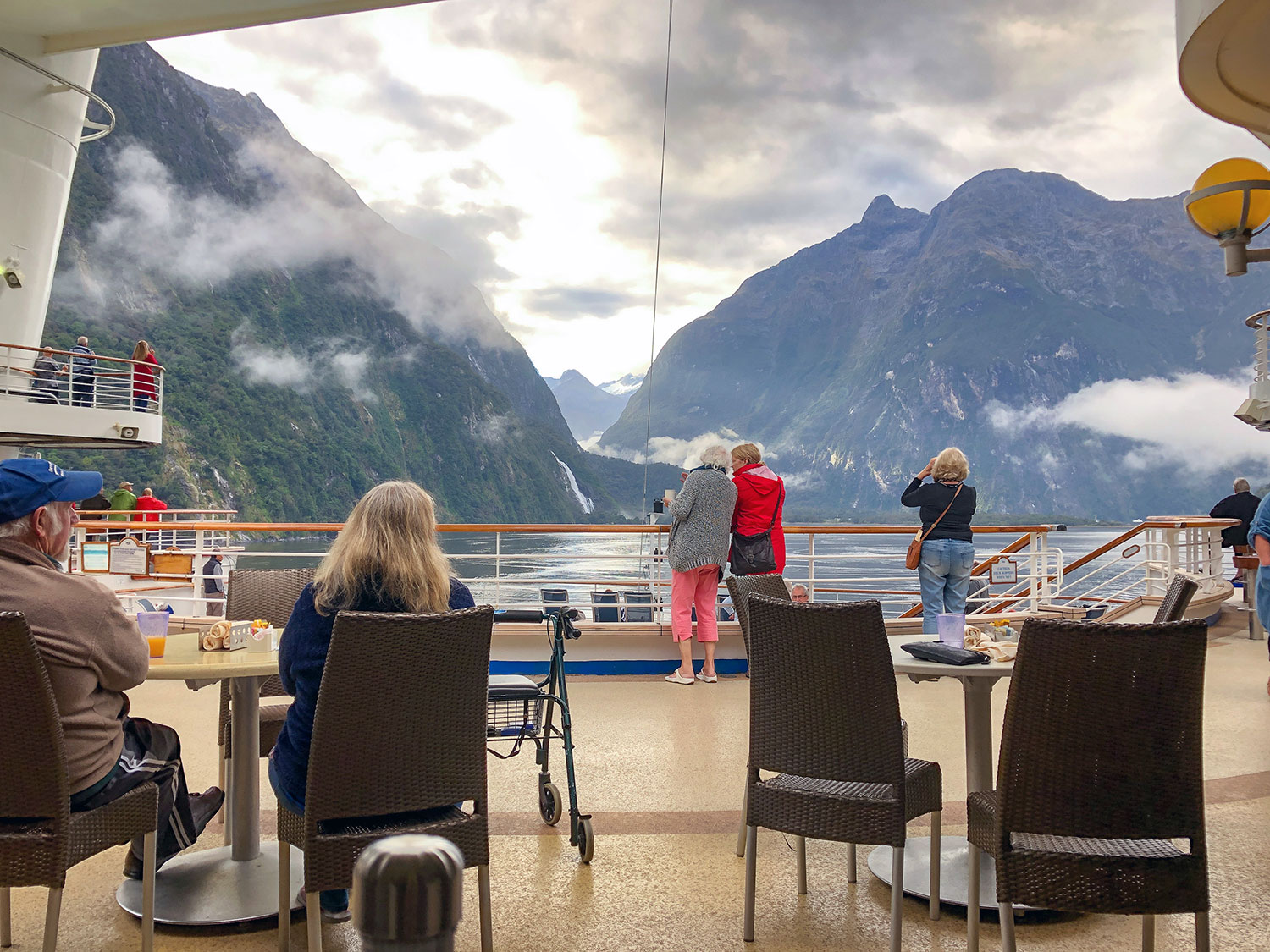 Morning at Milford Sound viewed from aboard the Golden Princess, Fiordland National Park in New Zealand