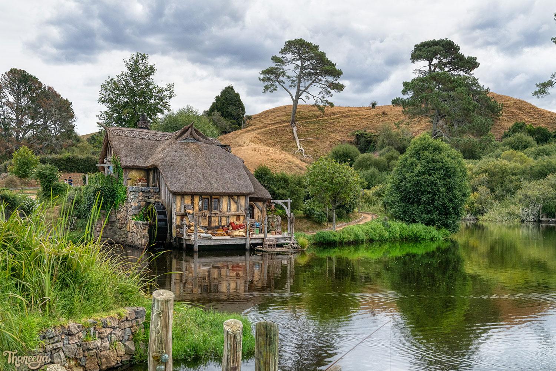 Watermill at Hobbiton in Matamata, New Zealand. Photo by Thaneeya McArdle.