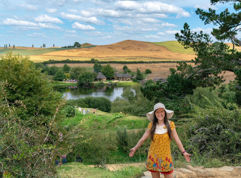 Thaneeya McArdle visits Hobbiton in New Zealand