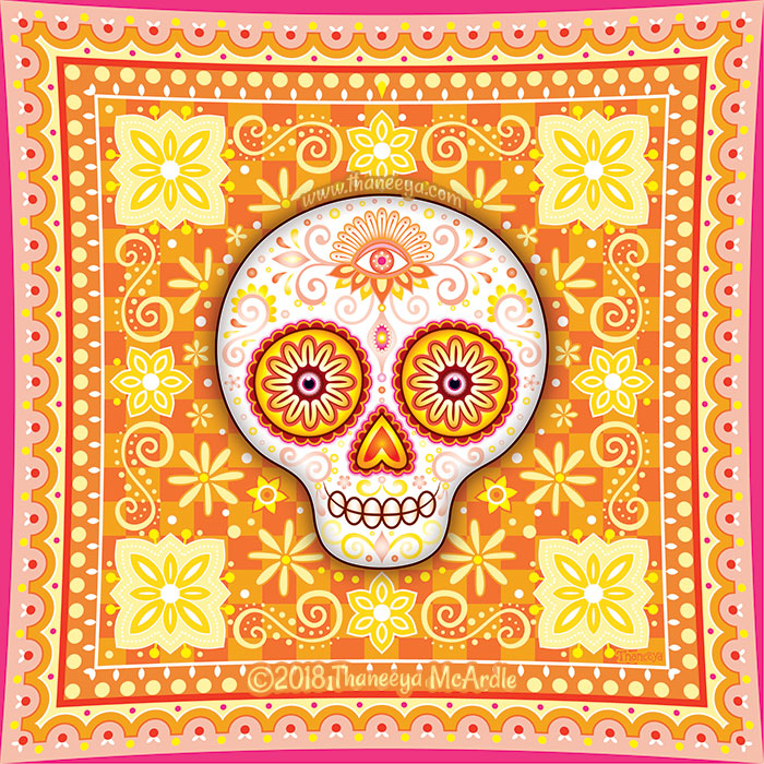 Sol Sugar Skull by Thaneeya McArdle