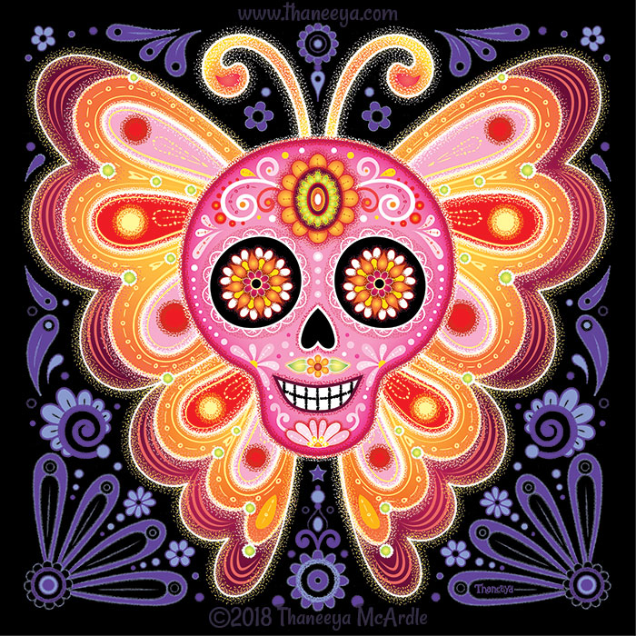Electrik Sugar Skull by Thaneeya McArdle