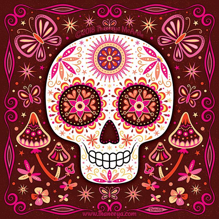 Sage Sugar Skull by Thaneeya McArdle