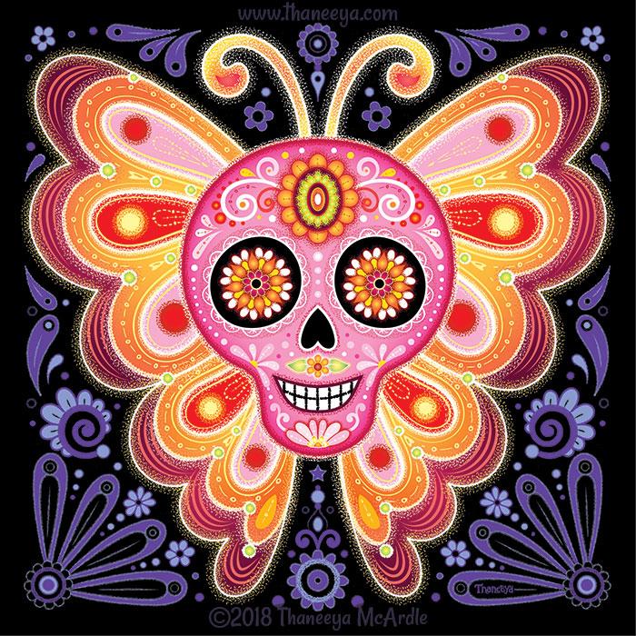 Electrik Sugar Skull by Thaneeya McArdle