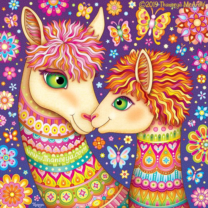 Llama Mama and Baby by Thaneeya McArdle