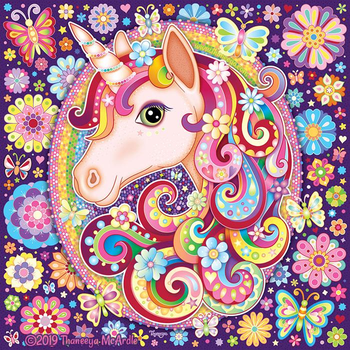 Unicorn Rainbow Art by Thaneeya McArdle