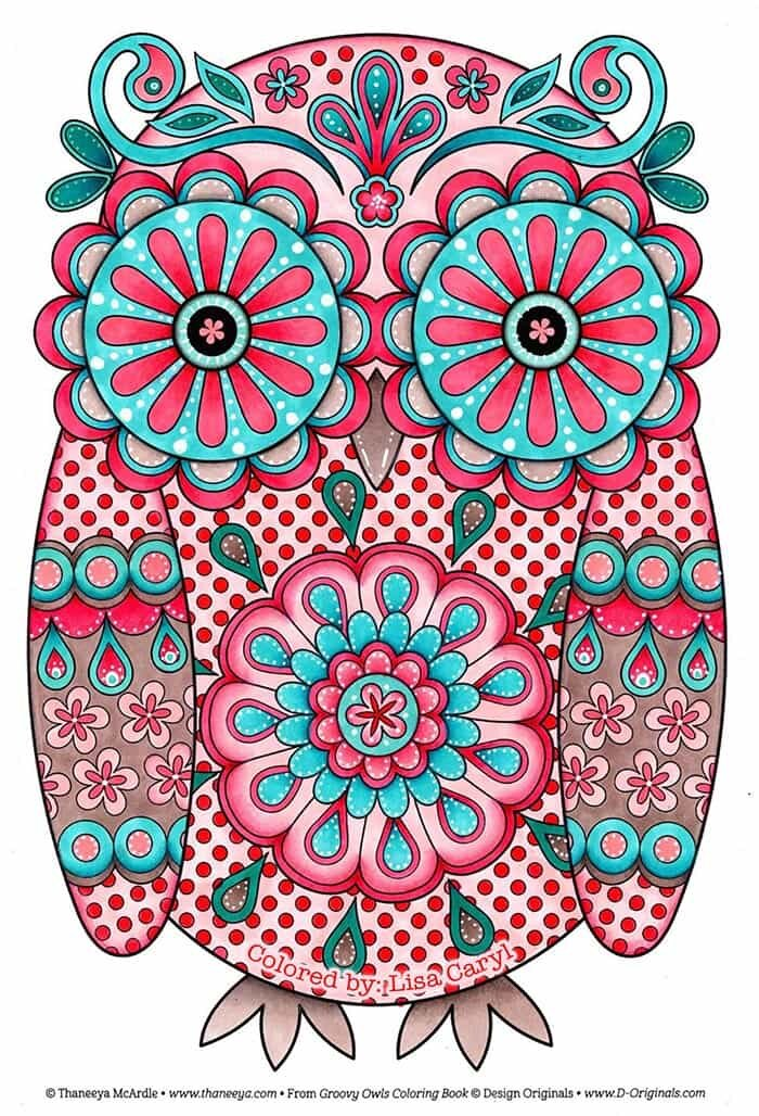 Colorful Patterned Owl by Thaneeya McArdle