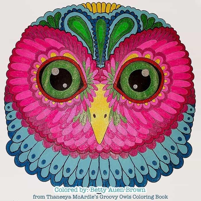 Colorful Owl Artwork by Thaneeya McArdle