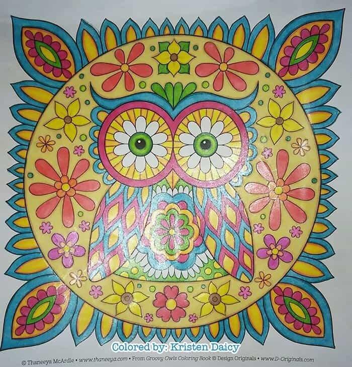 Cute Owl Mandala Coloring Page by Thaneeya