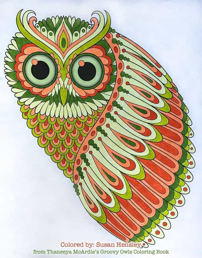 Groovy Owls Coloring Book By Thaneeya McArdle — Thaneeya.com