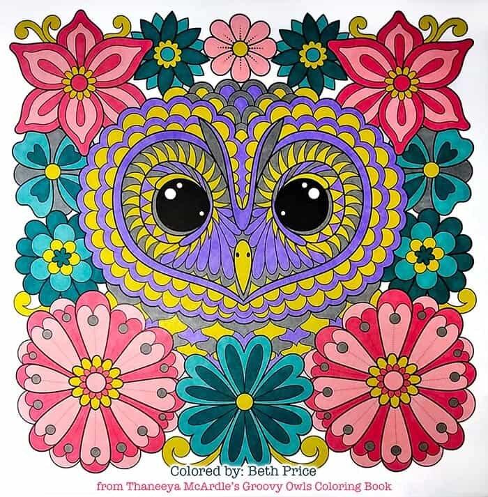Flower Owl Art by Thaneeya McArdle