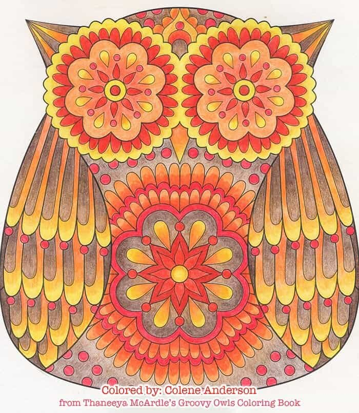 Owl Art Coloring Page by Thaneeya McArdle