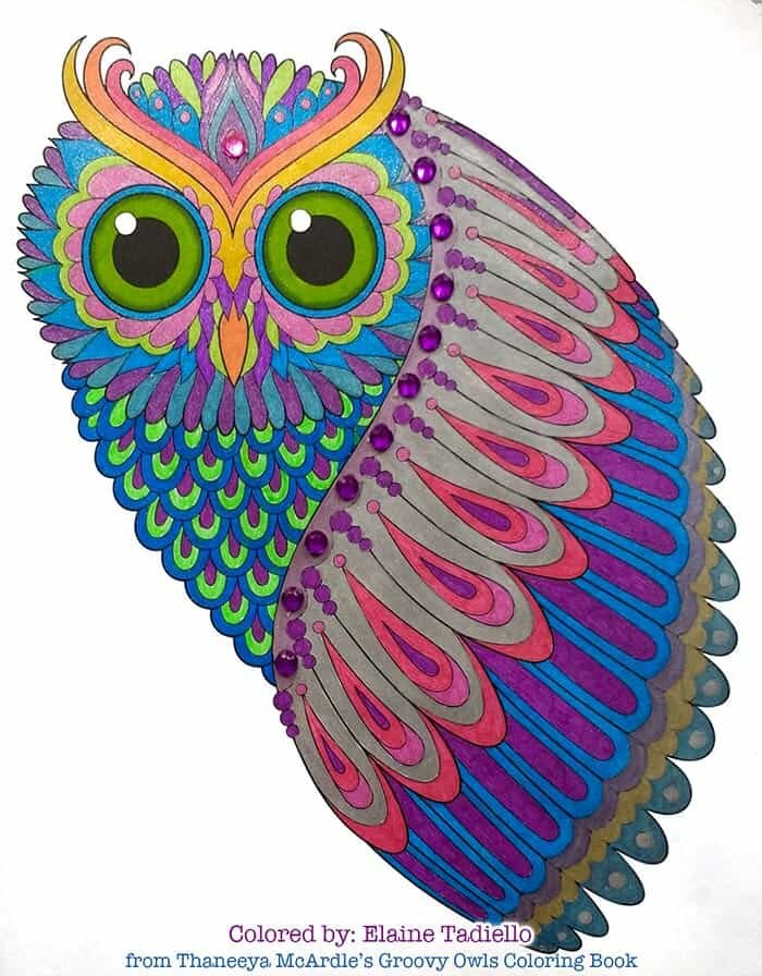 Owl Art for Coloring by Thaneeya McArdle