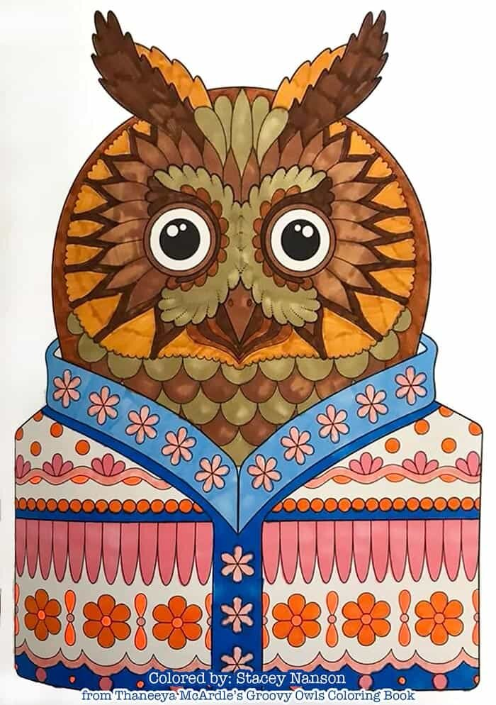 Owl Art for Coloring by Thaneeya