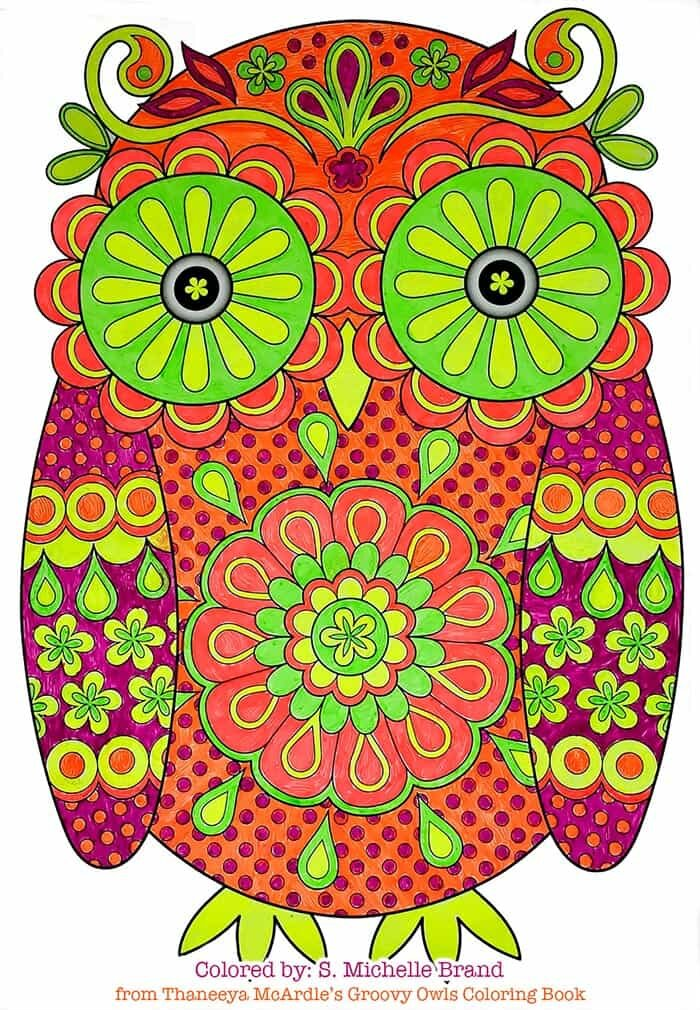 Owl Coloring Art by Thaneeya McArdle