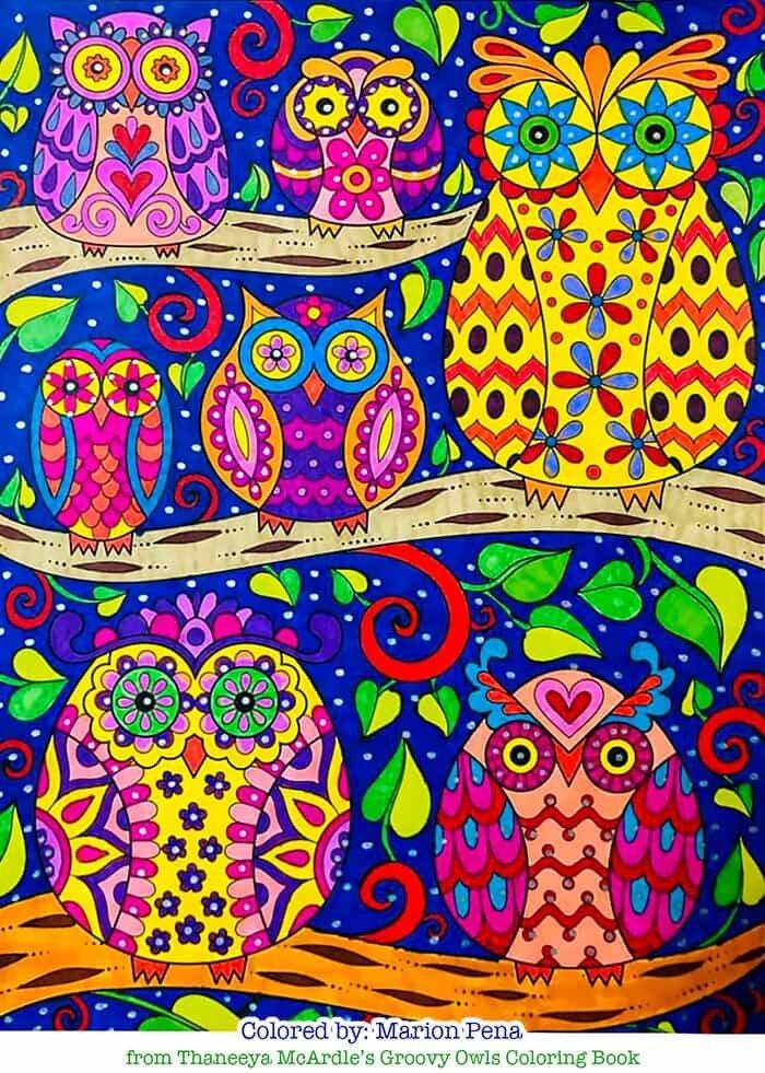 Owl Family Art by Thaneeya McArdle