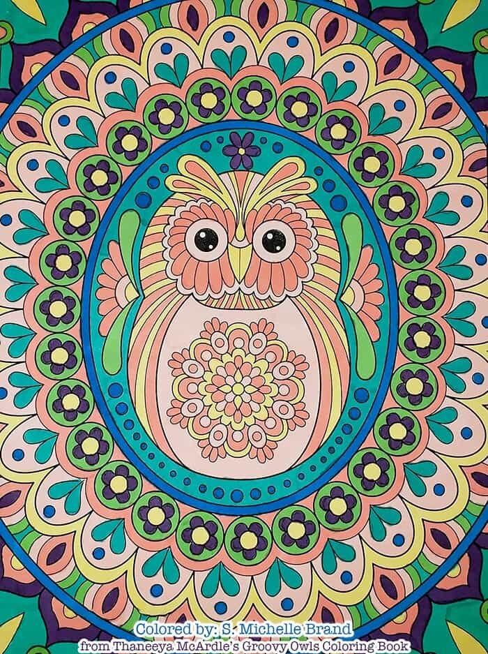 Owl Mandala Art by Thaneeya McArdle