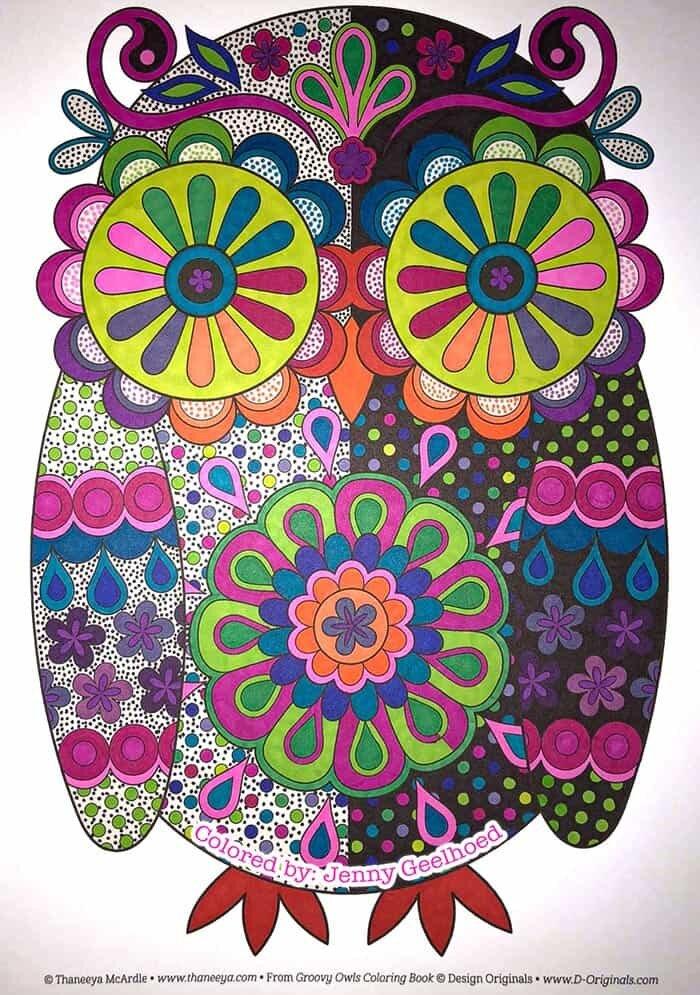 Psychedelic Owl Art by Thaneeya McArdle