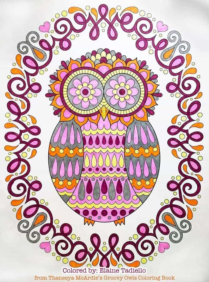Retro Owl Artwork by Thaneeya