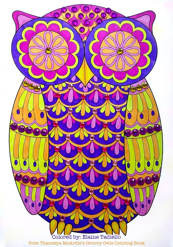 Owl Coloring by Thaneeya McArdle