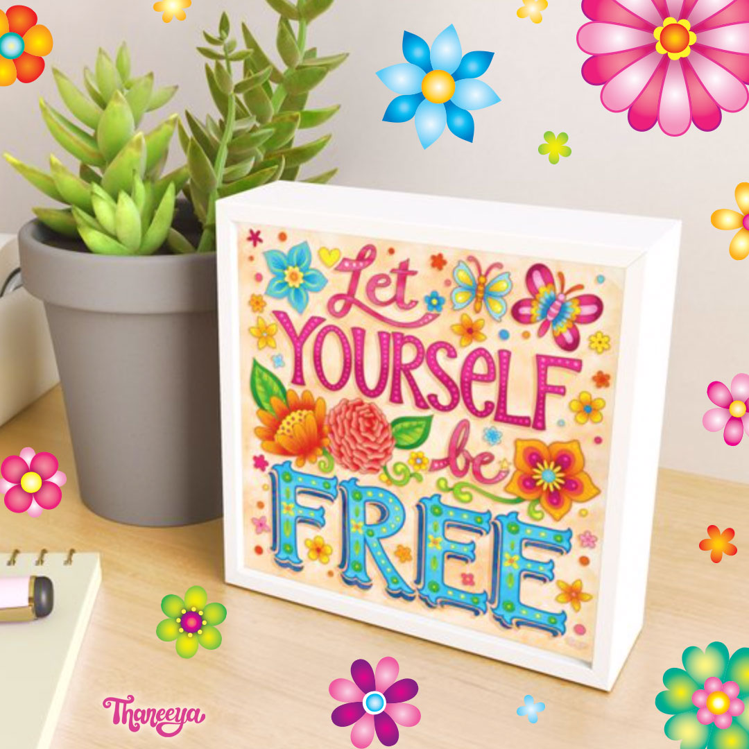 Let yourself be free - Framed Art Print