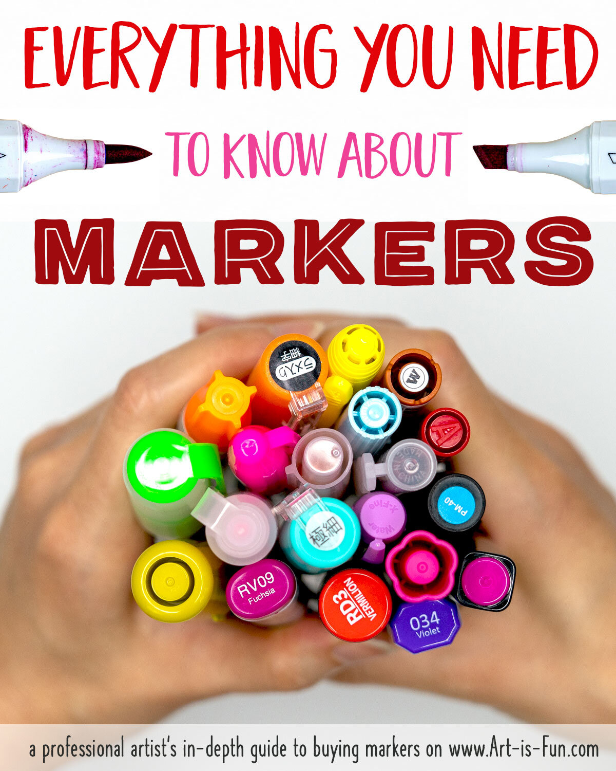 Read my detailed  guide to Art Markers  to learn all about the different marker options available for artists and colorists