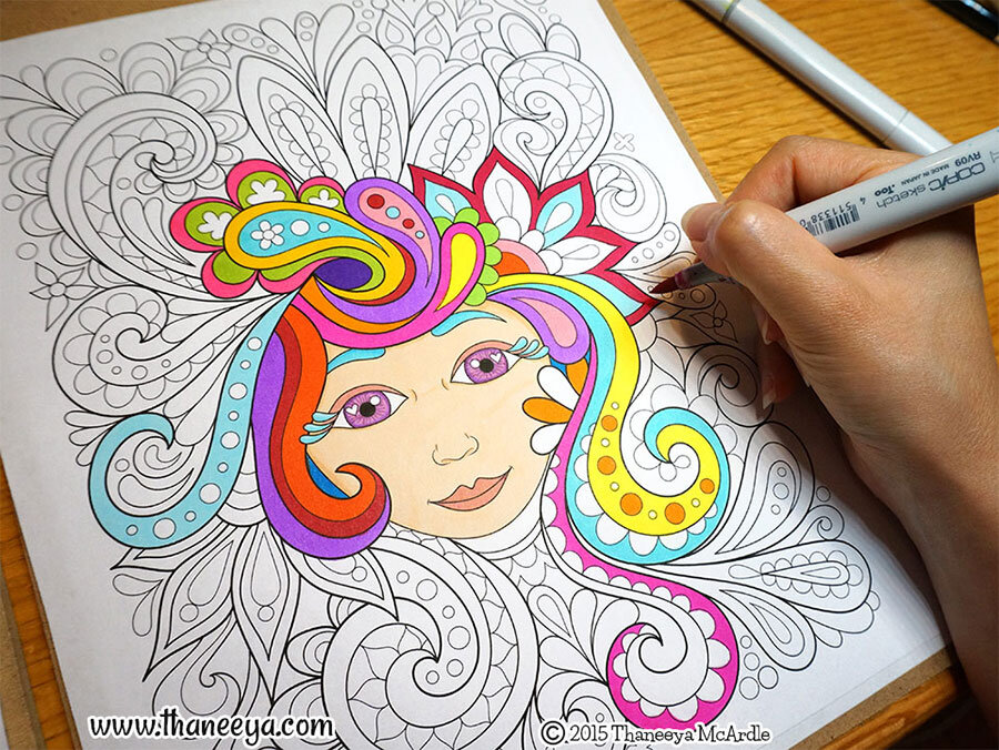 - Free Spirit Coloring Book By Thaneeya McArdle — Thaneeya.com