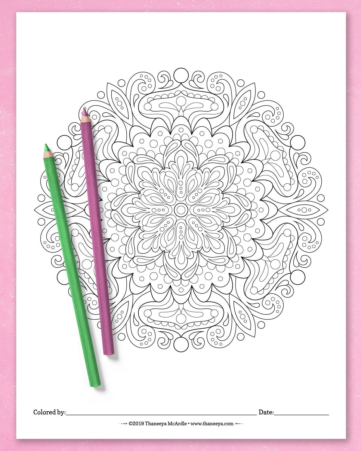 Detailed Mandala Coloring Pages By Thaneeya Mcardle Set Of 10 Printable Mandalas To Color Thaneeya Com
