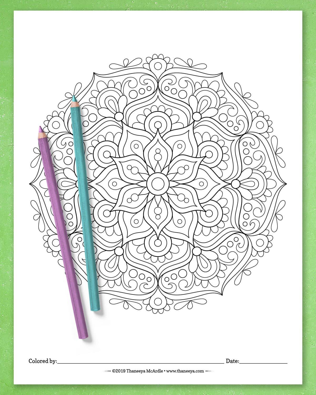 - Detailed Mandala Coloring Pages By Thaneeya McArdle - Set Of 10 Printable  Mandalas To Color! — Thaneeya.com