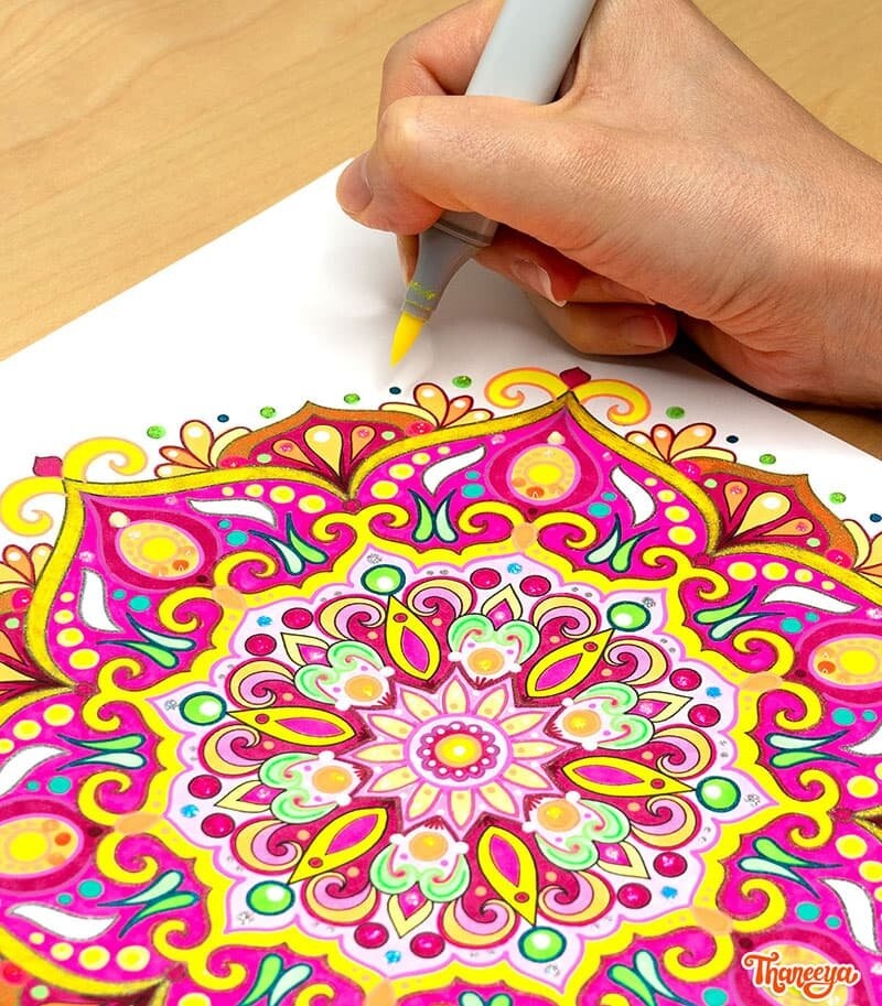Detailed Mandala Coloring Pages By Thaneeya McArdle - Set Of 10 Printable  Mandalas To Color! — Thaneeya.com