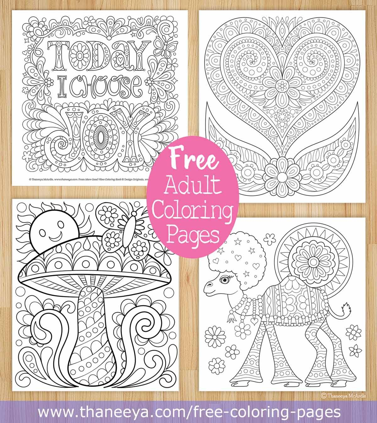 - Free Coloring Pages — Thaneeya.com