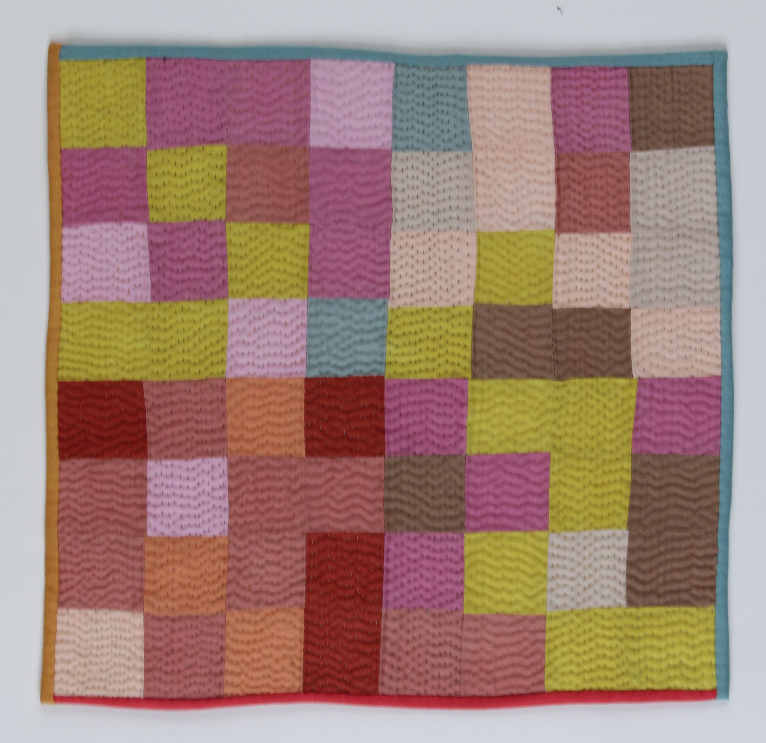 color study I , dyed fabric, pieced and quilted by hand, 2015