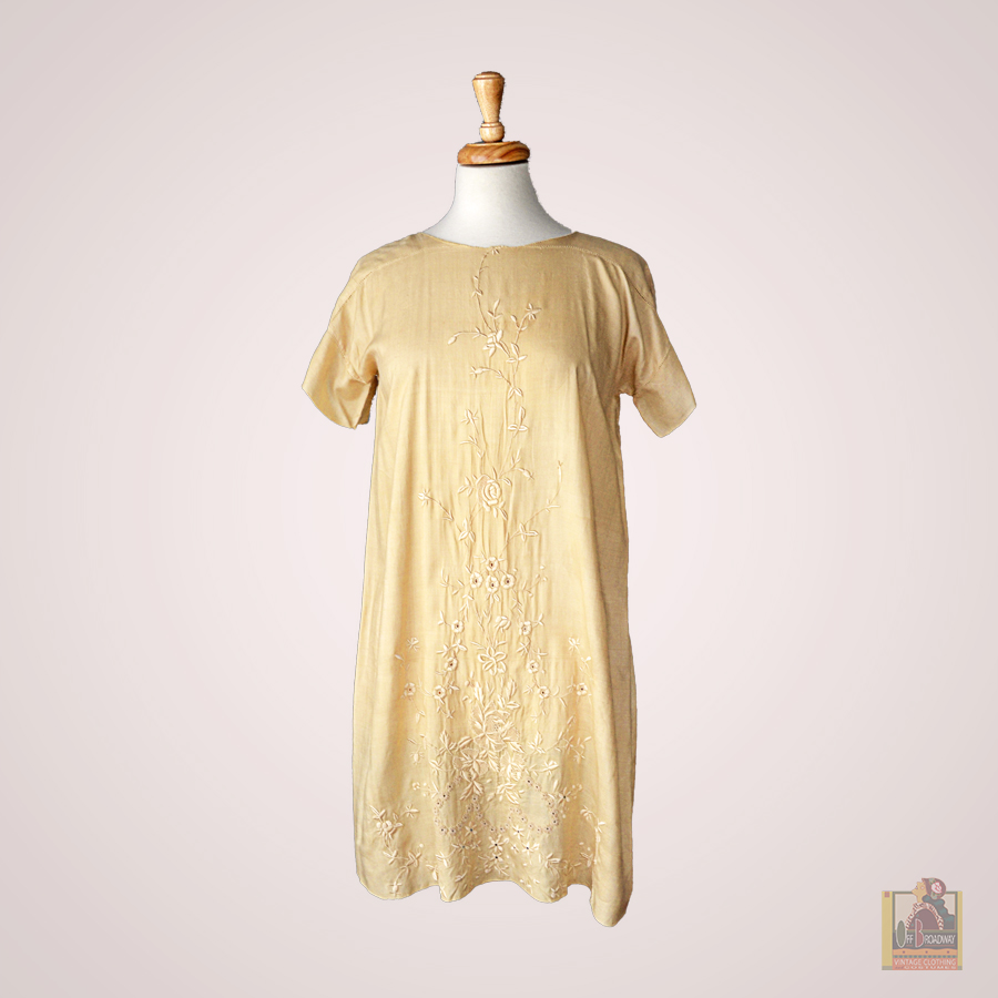 Cream Silk Embroidered Tunic.jpg
