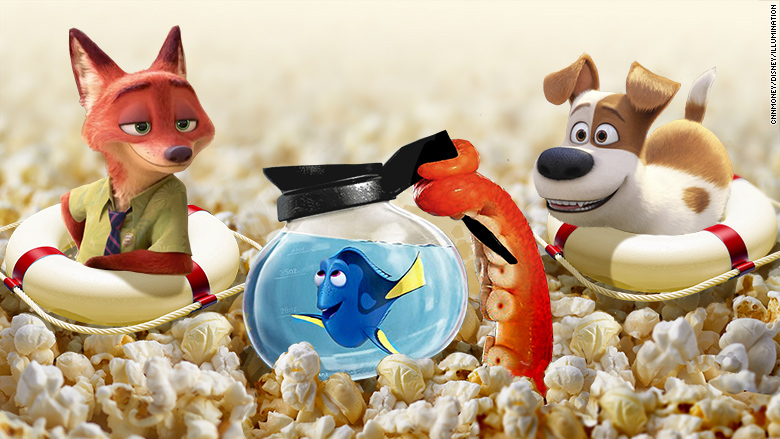 """""""Finding Dory"""",animated films keeping the 2016 box office afloat CNNMoney"""