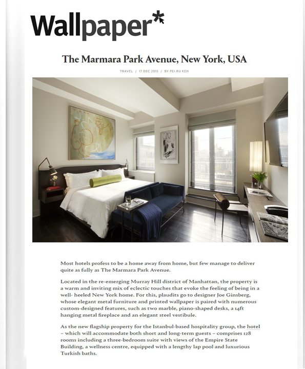 Hotel Designers in New York, NY | Joe Ginsberg Design | 10020