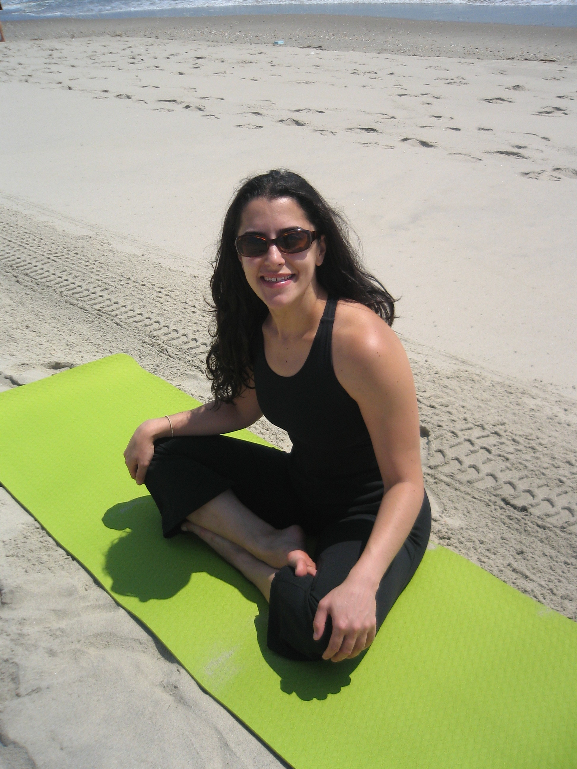 Julia Seated on Mat NJ Beach
