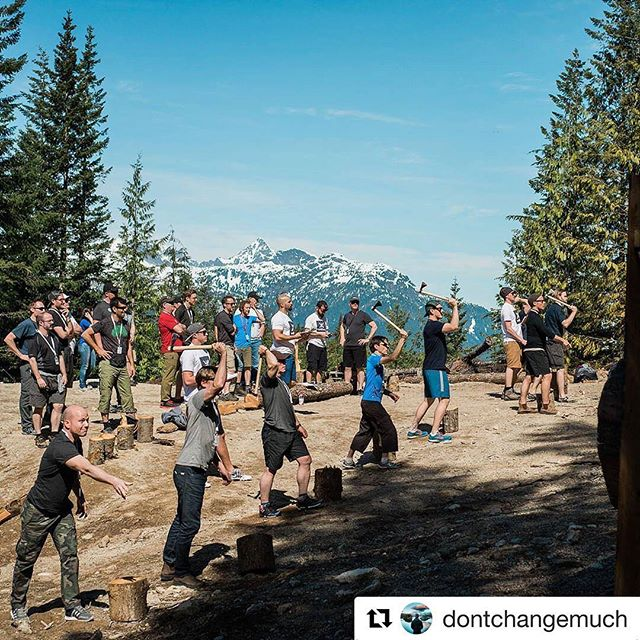 #Repost @dontchangemuch ・・・ Axe throwing, epic views and campfires. Sounds great, don't it? Unplug from your daily grind and join us in Squamish, BC this weekend for Wellmen's next adventure! Hurry before they run out of space for another brother! Link to signup in bio over at 👉 @becomewellmen  #adventurewithin #stokeyoursoul #wellmen #menshealth #dontchangemuch #brotherhood