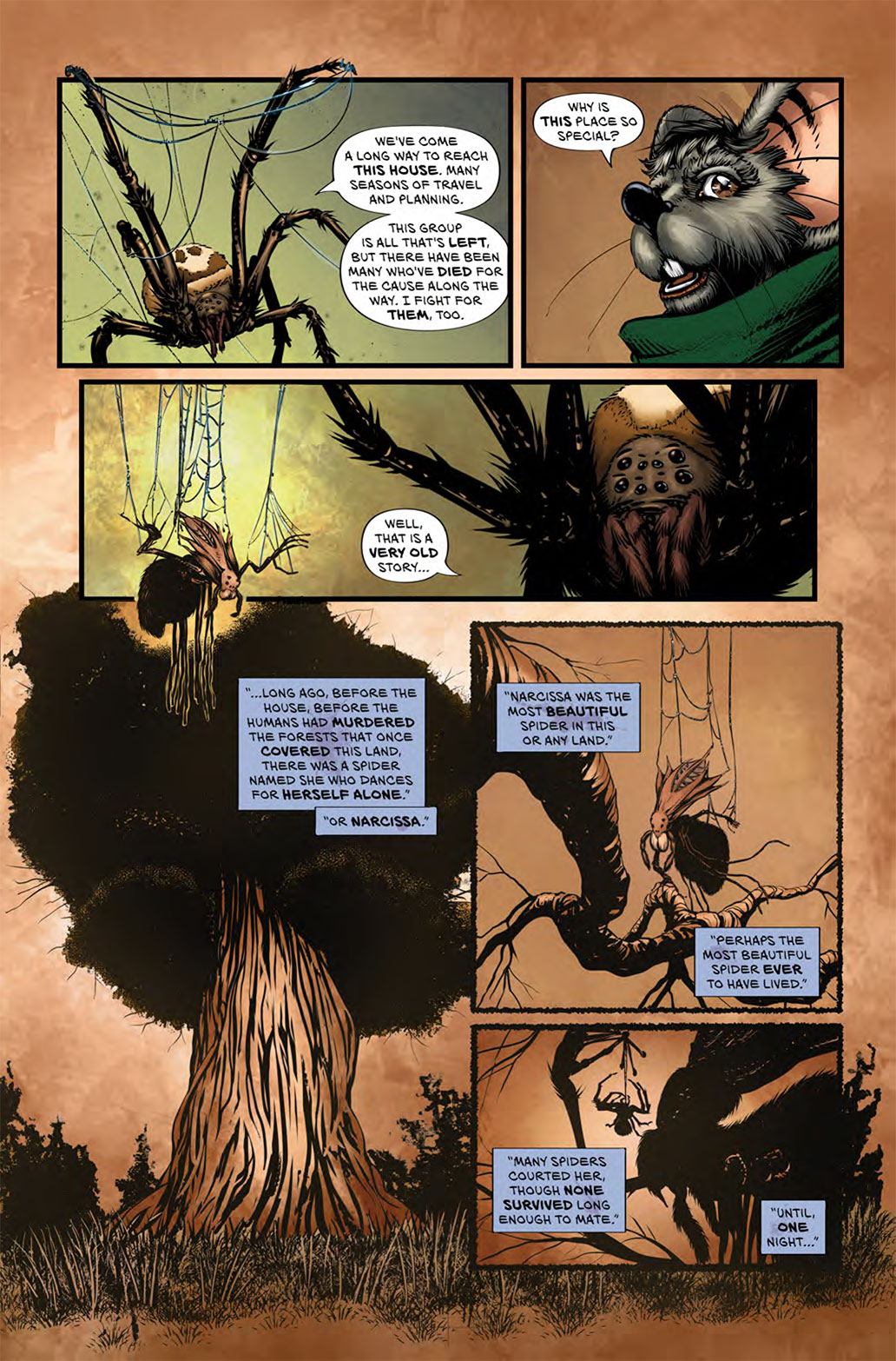 Fun page from Wretched Things #2. A story within a story.