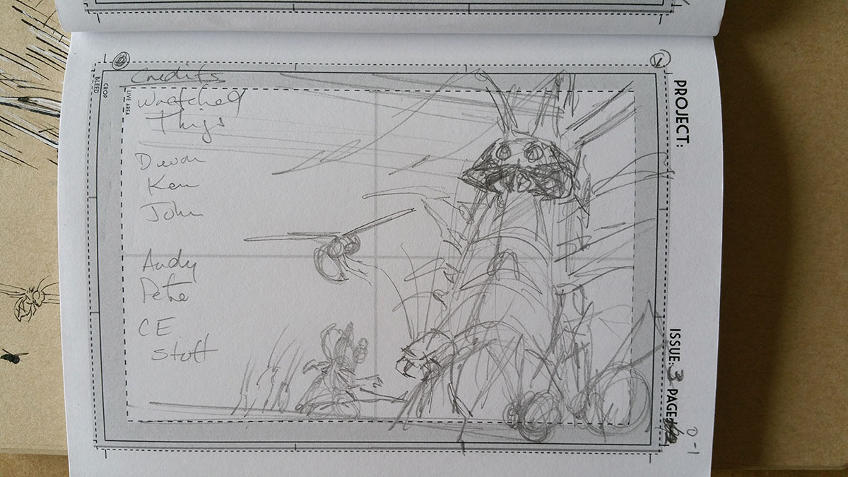 Small thumbnail of what was explored for the final layout