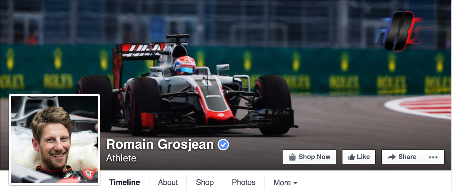 Romain Grosjean was asked to take down behind the scenes Facebook Live content