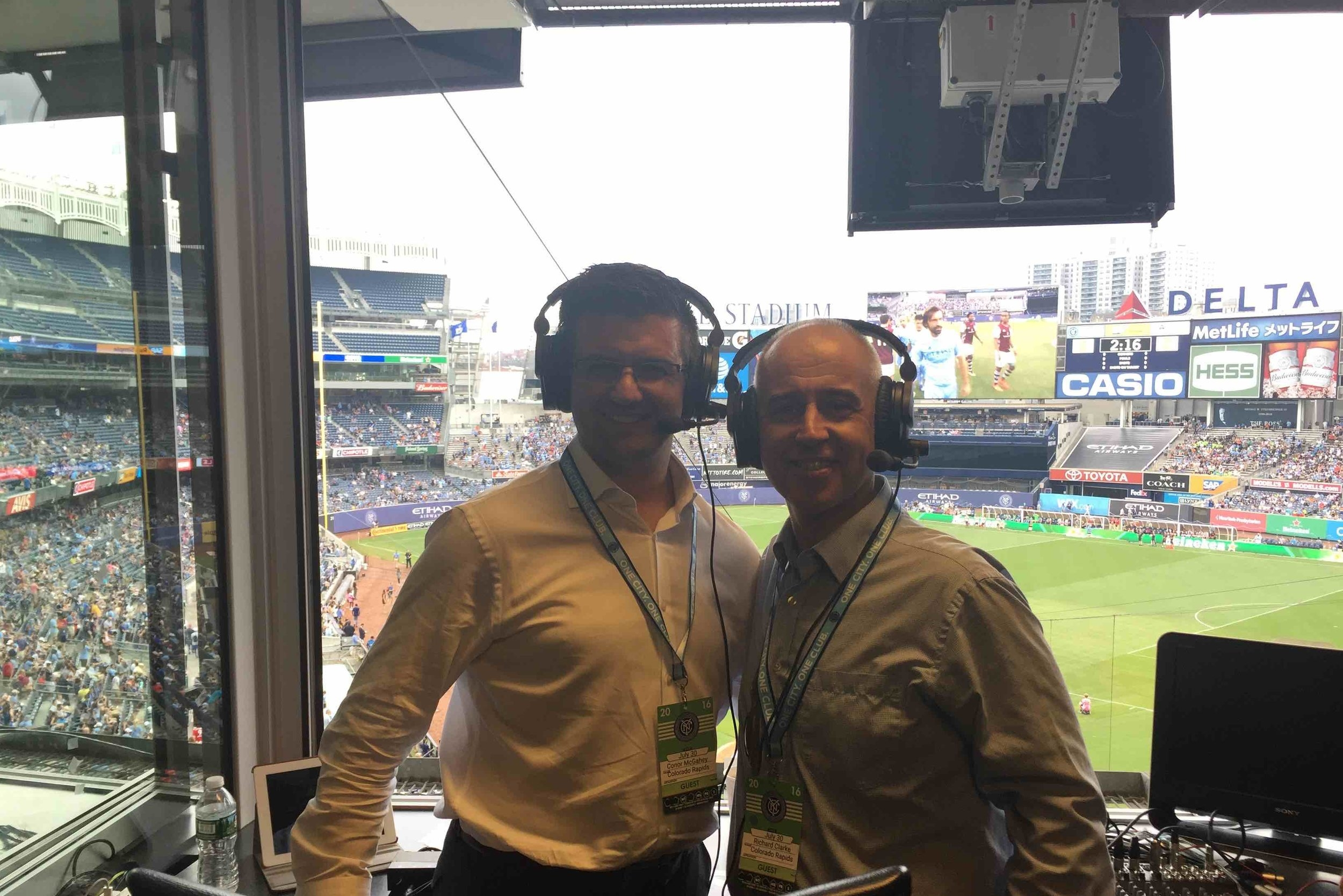 Commentating at NYCFC