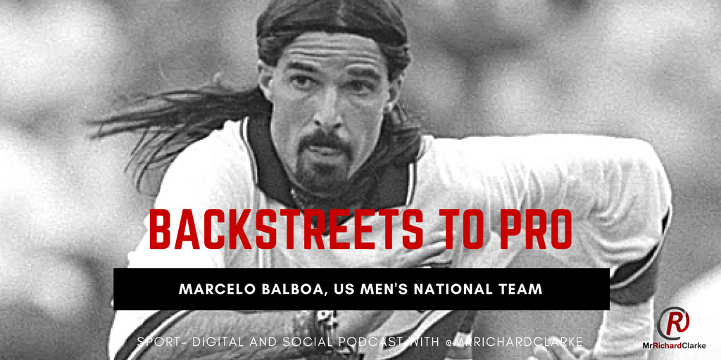Marcelo Balboa in his playing days for the USMNT