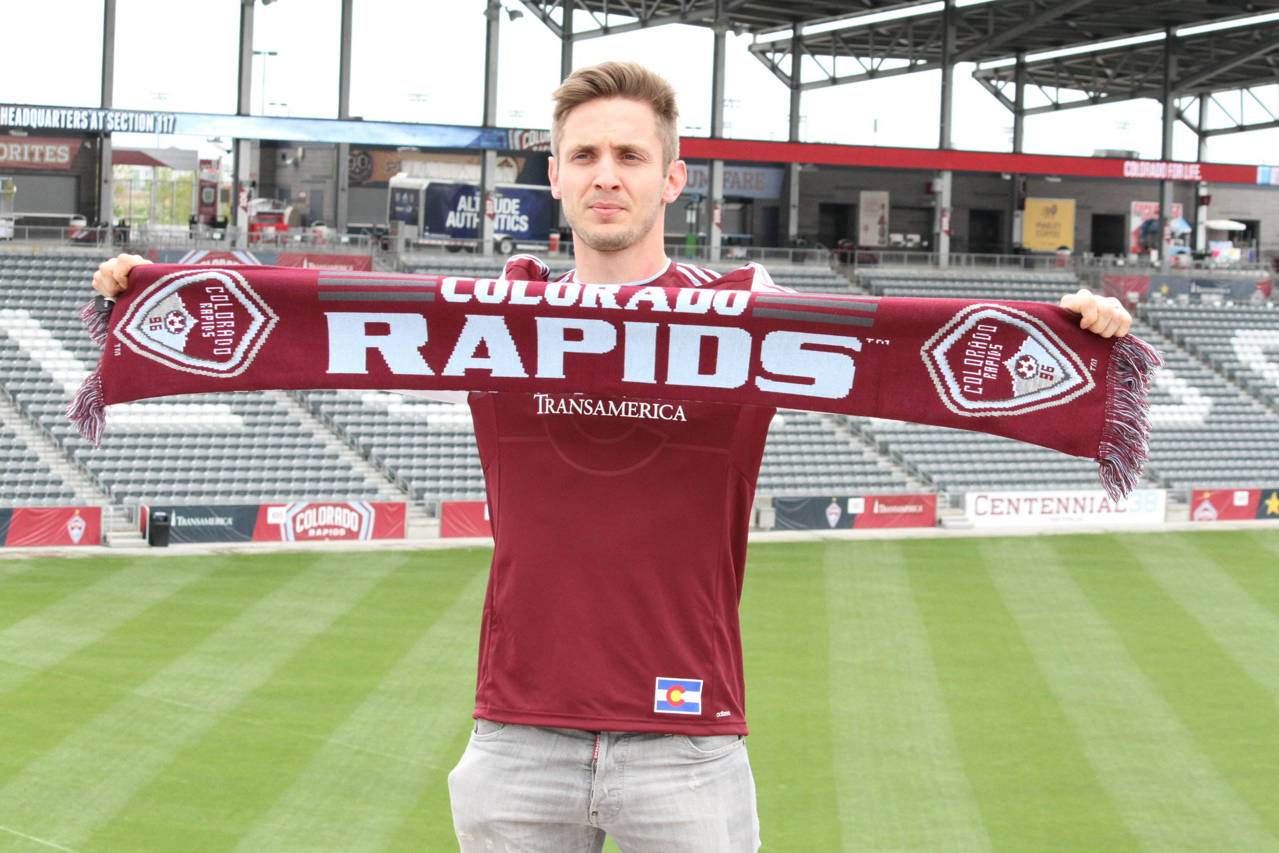 Doyle's introduction at the Colorado Rapids