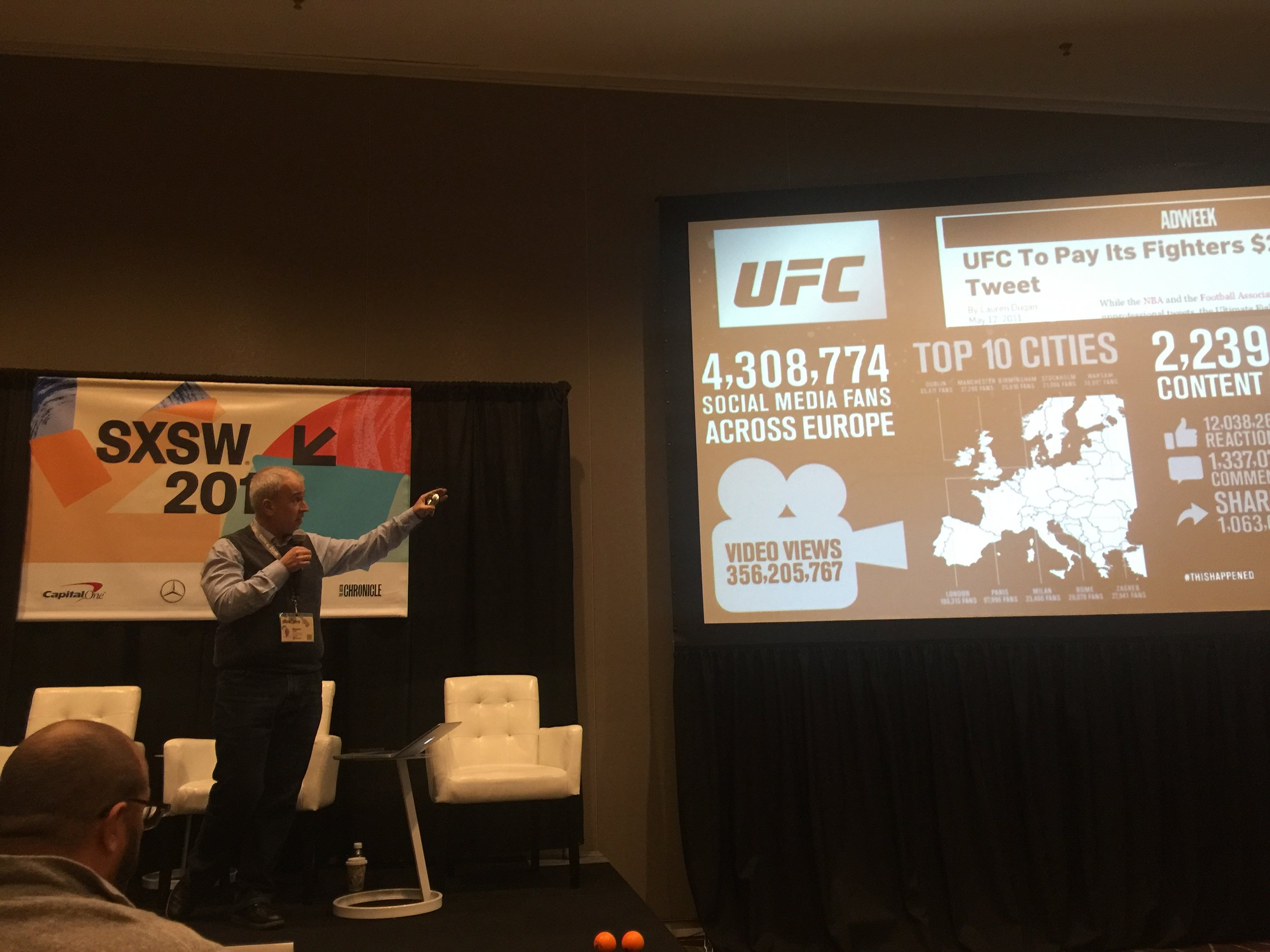 Talking how UFC overachieve in social media in comparison to boxing