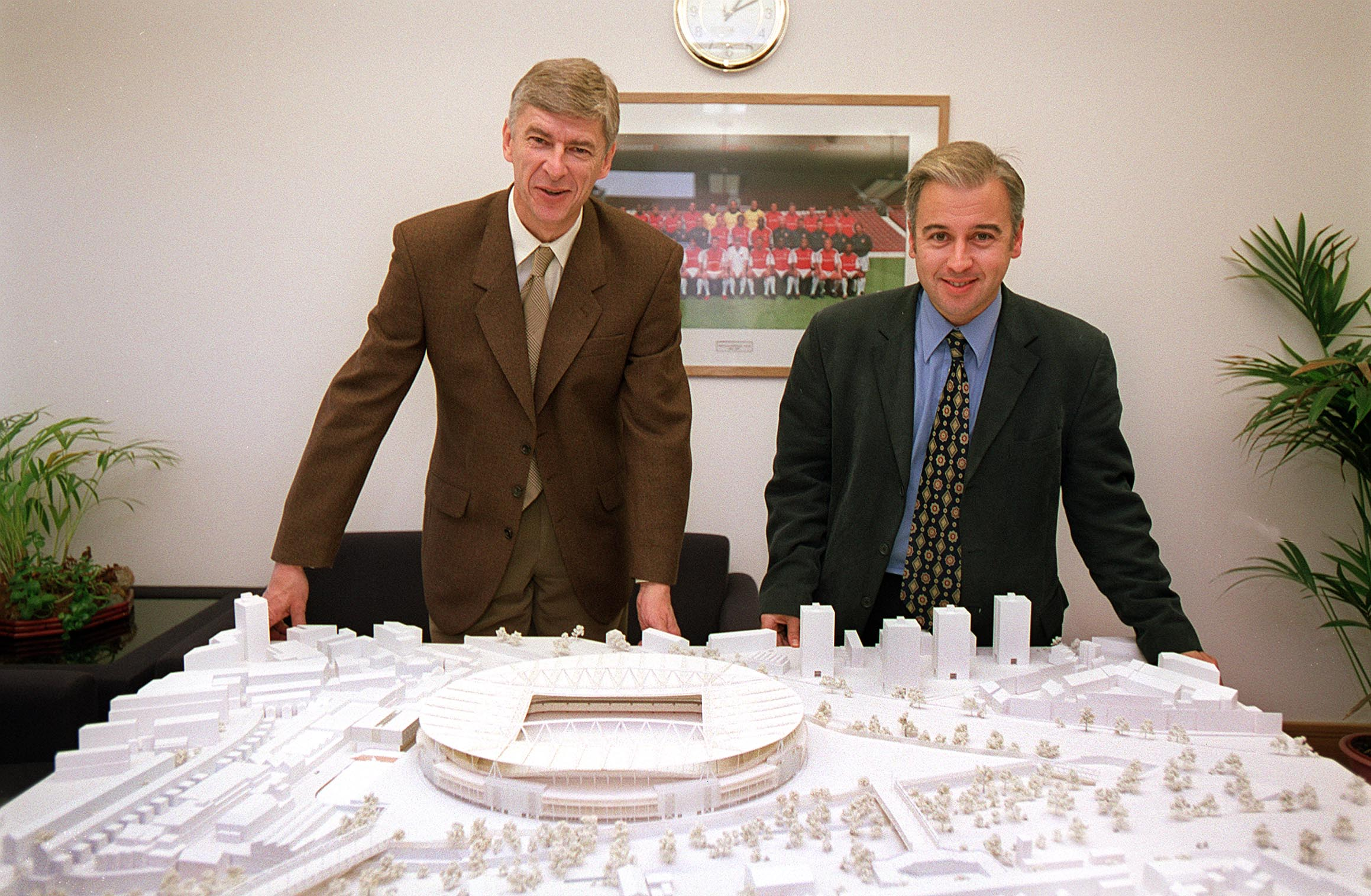 As a reporter on the local Islington paper with a model of the soon-to-be-built Emirates Stadium