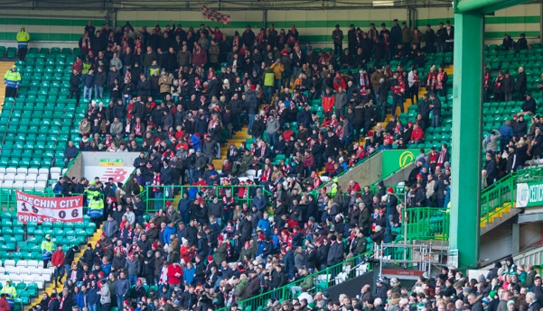 The population of Brechin is 6,000 but they took 1,300 fans to Celtic Park