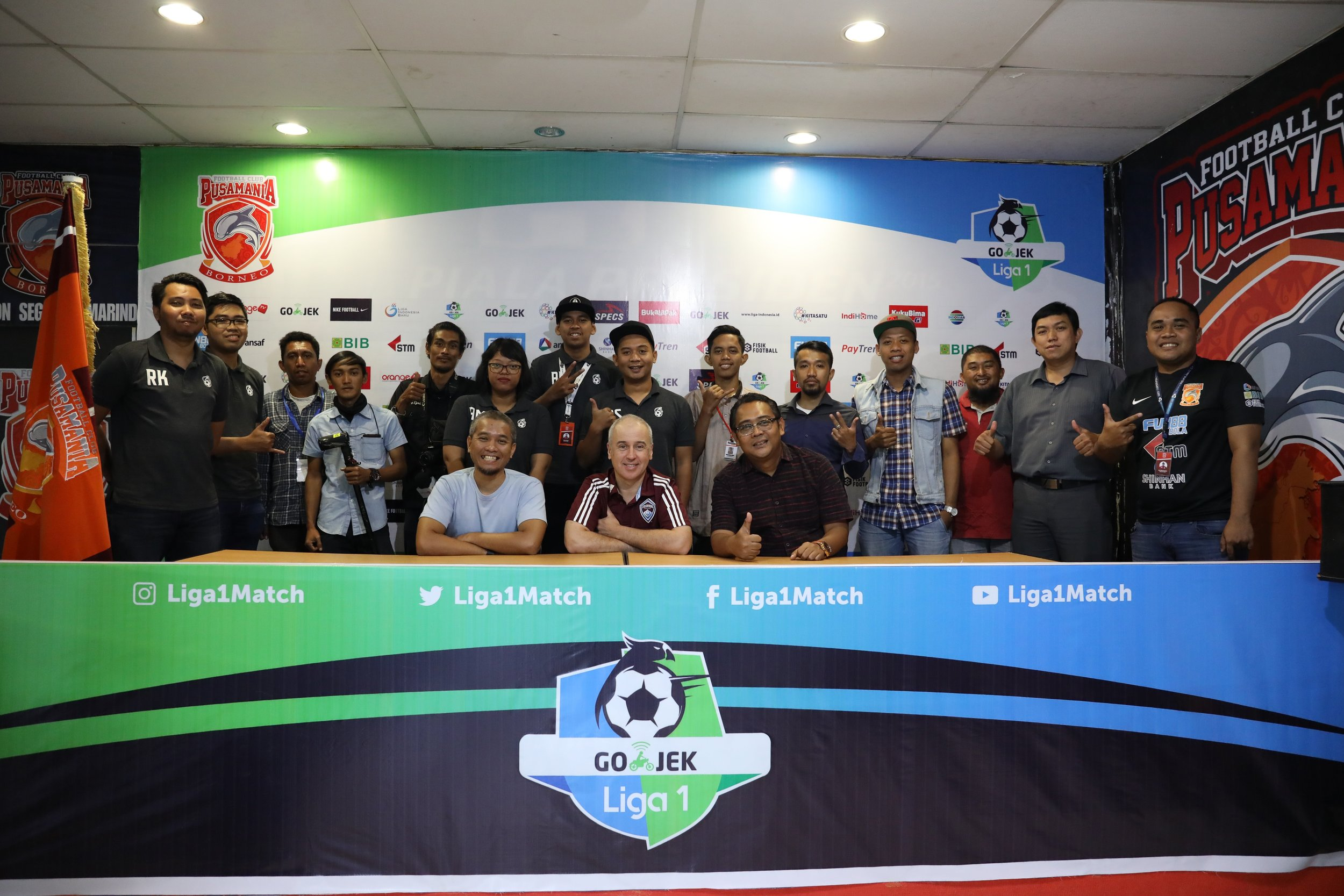 With the digital and social media teams of Borneo and Mitra Kukar on the island of Kalimantan