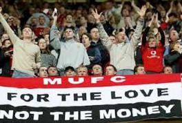 Man United are the richest football club in the UK so their fans' narrative almost deliberately reflects more meaning